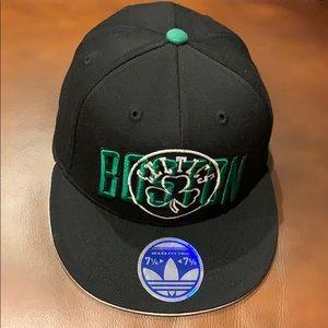 Adidas fitted Boston Celtics hat NWT